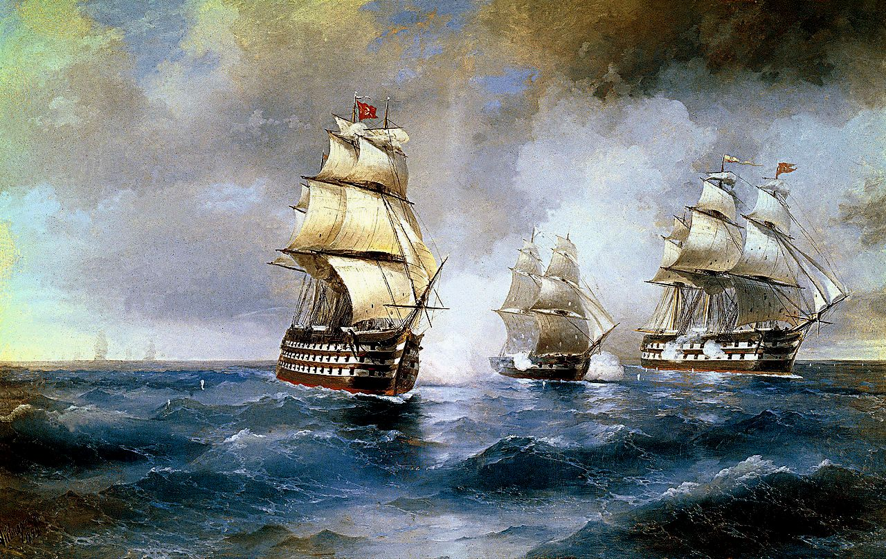 1280px Aivazovsky Brig Mercury Attacked by Two Turkish Ships 1892
