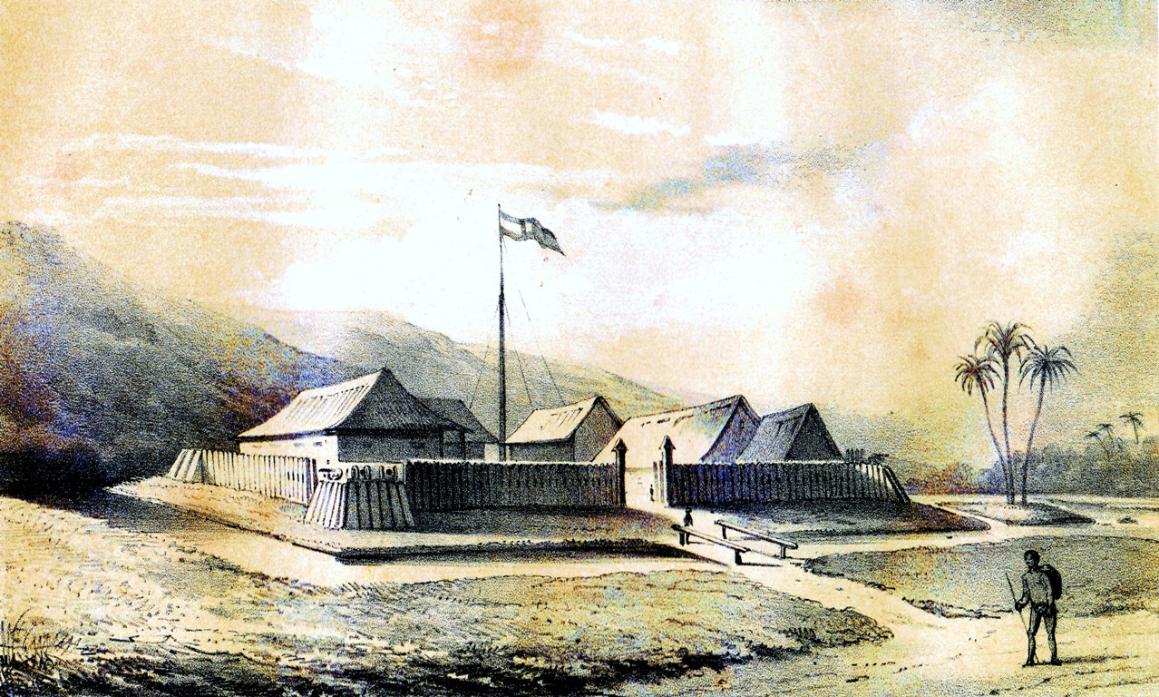 Fort te Sambas gebouwd in 1823