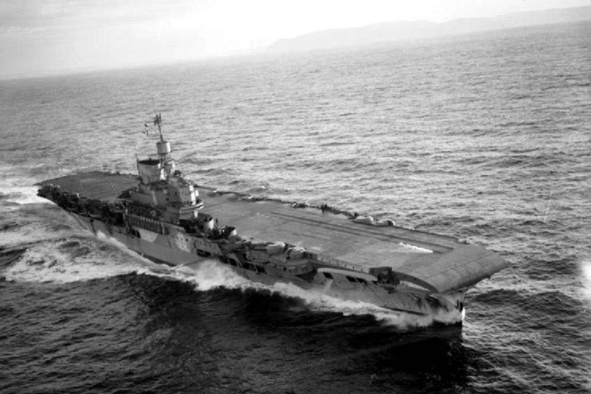 Aerial photography of HMS Victorious
