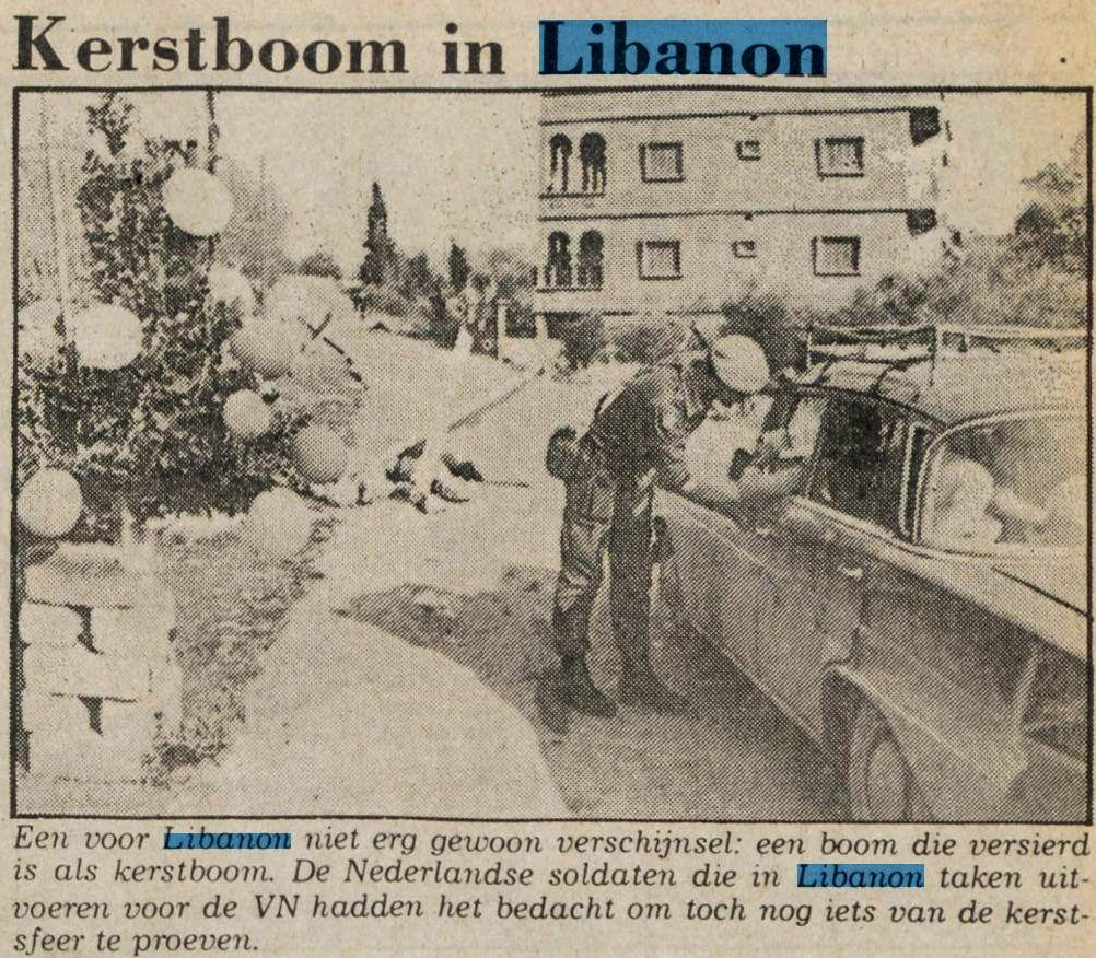 Kerstboom in Libanon
